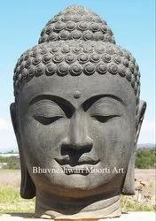 Black Marble Large Buddha Head 48