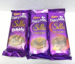 Rectangular Cadbury Dairy Milk Silk Chocolate, Number Of Pieces: 30 Pcs In 1 Outer