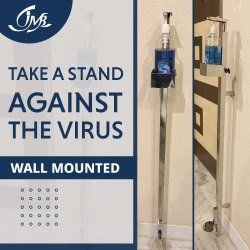 Wall Mounted Sanitizer Dispensing Stand