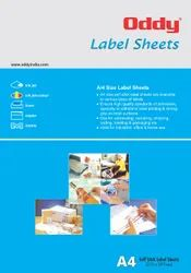 Oddy A4 Self Stick Paper Label  - For Laser, Inkjet & Copiers
