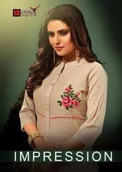 Designer Handloom Cotton Kurti For Women