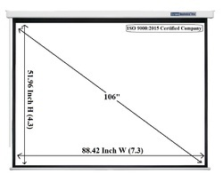 Pro Series Motorized Projector Screen 106 Inch Diagonal