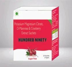 Potassium Magnesium Citrate D Mannose & Cranberry Extract Sachet