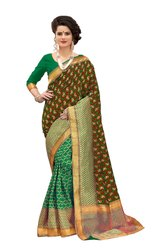 Banarasi Silk Mango Weaving Party Wear Traditional Wedding Wear Saree