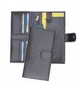 Leatherette Ladies Wallet in Black
