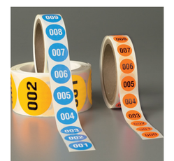Numbered Inventory Labels