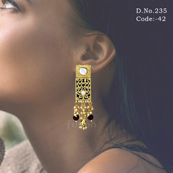 Designer Kundan Stud Earrings