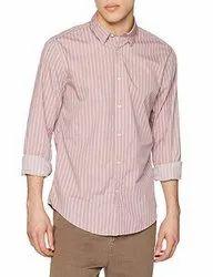 Pink Casual Wear Mens Designer Shirt