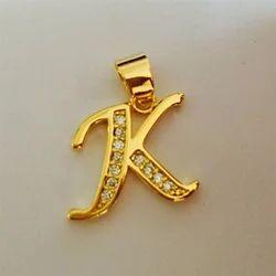 Gold Letter Pendant