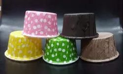 Polka Dots Muffin Cup & Dark Brown Chocolate Cup