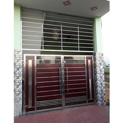 Galvanized Steel Swing Fabricated Metal Gate, For Residential