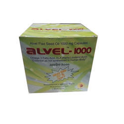 Alvel Flax Seed Oil Capsules, 10 X 15 Capsules, Packaging Type: Carton Box