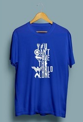 Mens Round Neck T Shirt You Cant Save