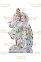 White Marble Radha Krishna