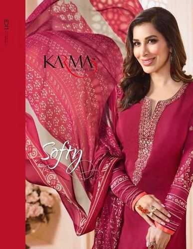 40c66d6dfc Crepe Karma Softy Wholesale Straight Long Salwar Suits, Rs 950 ...