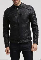 Black Leather Jacket FTLLG10103, Size: M-XXL