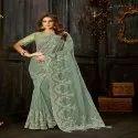 Heavy Embroidery Bridal Saree