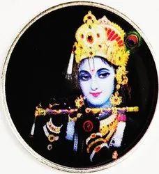 Krishna Color Silver Coin 10 gm.