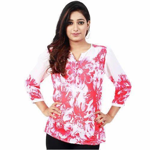 8da11e35e26 Small And Large Cotton Ladies Fancy Top, Rs 250 /piece, Bonjour ...