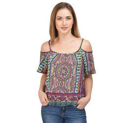 Surplus Bell-Sleeve Open-Shoulder Top