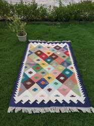 Area Rug, Cotton Handloom Rug, Multicolour Rug, Indoor Rug