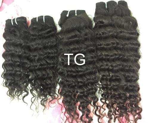 Tg Brown Deep Wave Virgin Curly Hair Pack Size 8 30 Inches Packaging Size 10 30 Inches Rs 1600 Piece Id 14851617188