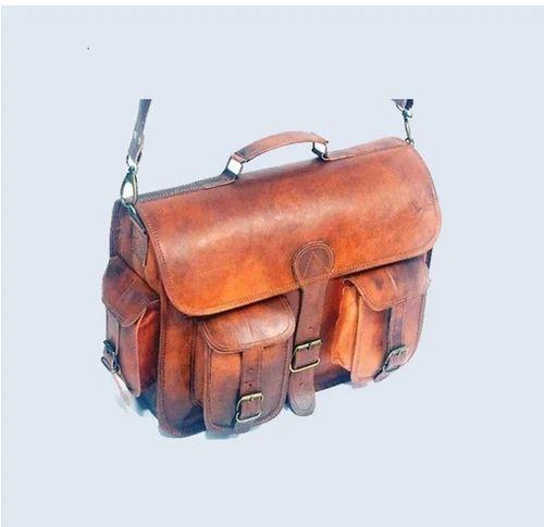 New Men/'s Vintage Leather Messenger Briefcase Satchel Shoulder Laptop Bag