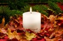 White Wax Pillar Candle