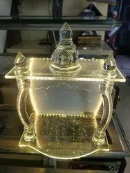 10.5 kg Glass Dome Mandir