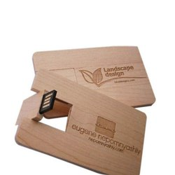 CARD Shape ( Wooden Card  ) USB Pendrive