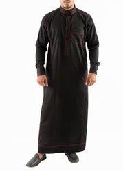 Red Anchored Simple Saudi Thobe