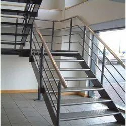 Powder Coated Mild Steel Staircase