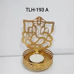 TLH-193 A Ganesha Shadow T-Light Holder