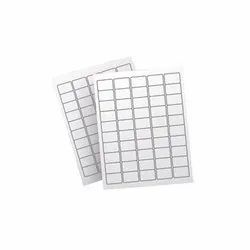 White Paper Plain Barcode Sticker, Packaging Type: Packet