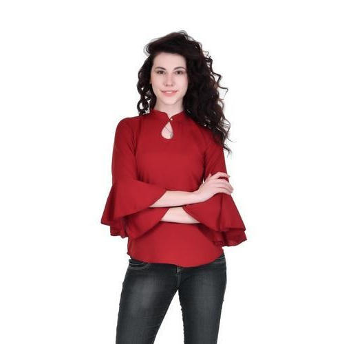 404608b0394e Women Dark Red Bell Sleeve Top, Size: S & M, Rs 249 /piece | ID ...