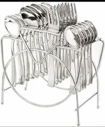 24 Pcs Stainless Steel Cutlery Wire Stand