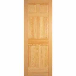 Wood Brown Flush Door for Home