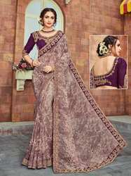 PR Fashion New Designer Purple Saree