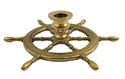 Nautical Full Brass Ship Wheel Pens Holder