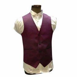 Mens Maroon Waistcoat Suit, Size: S to XXL