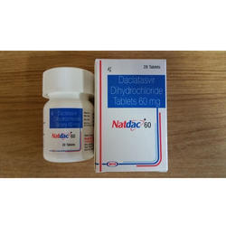 Natdac 60mg Tablet, 28 Tablets, Packaging Type: Plastic Bottle