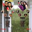 Personalized Heart Shape Wind Chime - Valentine