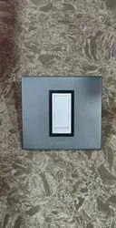 Polycarbonate Metallic grey next grey Modular Plate, Plate Module Size: 3 Module