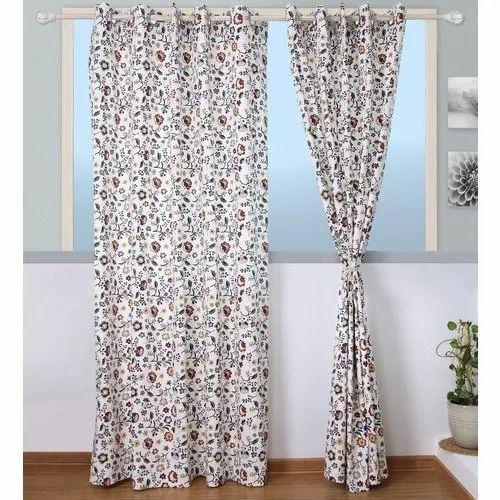 Printed Decorative Window Curtain, Size: 7 Feet