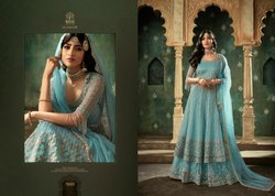 Semi-Stitched Mohini Glamour partywear anarkali suits