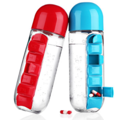 Pills Holder Water Bottle