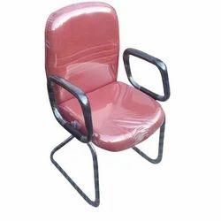 Red Rexine Foam Cushion Chair, Height: 2.5 feet