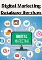 Digital Marketing Database Services, In India