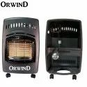 Orwind Portable Lpg Gas Cabinet Room Heater With Wheels, Capacity: High