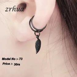 Imported Type Black U-shape ear clip cuff, Size: Standard